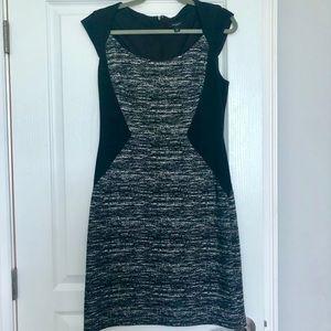 Ann Taylor Business Dress size 10 Black Gray